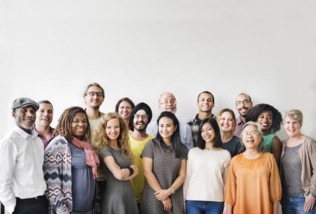 liderazgo empresarial: Diversidad Team Group Concepto Unión