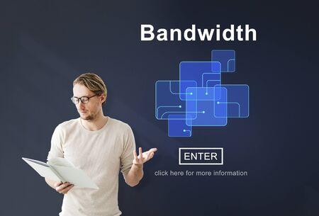 broadband: Bandwidth Broadband Computer Information Concept Stock Photo