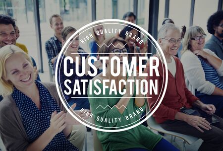 Customer Satisfaction Service Business Marketing Strategy Concept Stock Photo
