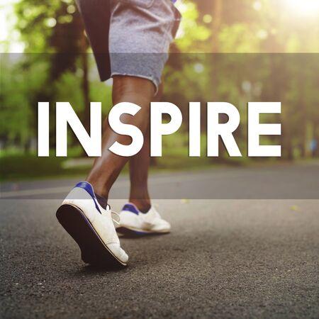 inspiración: La inspiraci�n inspirar inspirador impulsar innovar Concept