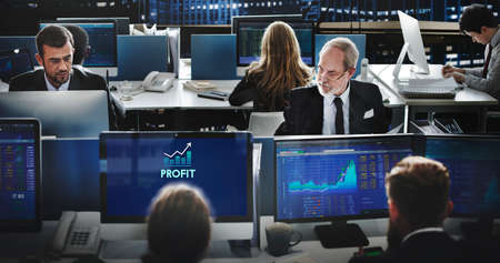 Profit Accounting Benefit Assets Concept Stock Photo