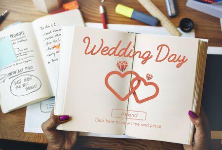 Wedding Day Celebration Ceremony Love Concept Stock Photo