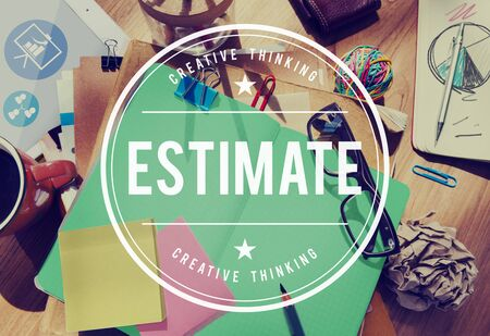 approximate: Estimate Determine Approximate Assess Assume Concept Stock Photo