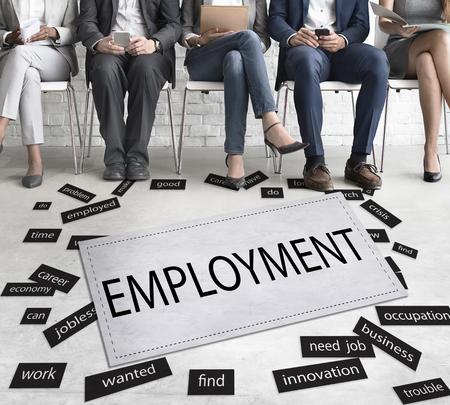 Employment Unemployment Career Job Concept Stock Photo