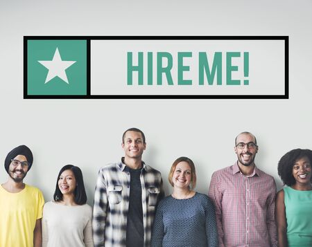 headhunting: Hire me Jobs Headhunting Profession Recruitment Concept Stock Photo