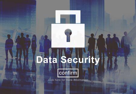 privacidad: Protección de seguridad de datos Privacidad concepto de interfaz