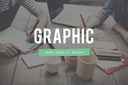 visual: Graphic illustration Creative Visual Digital Art Concept Stock Photo