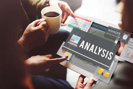 strategize: Analysis Research Statistics Strategize Insight Concept Stock Photo