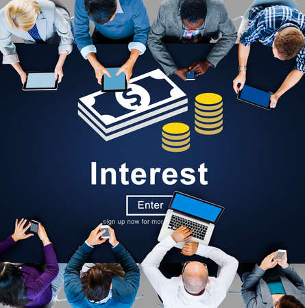 interest rate: Interest Banking Rate Financial Concept