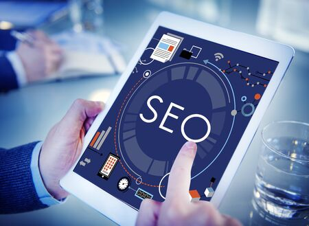 webpage: SEO Search Technology Business Webpage Concept