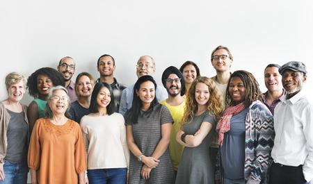 다양성 사람 그룹 팀 연합 개념 스톡 콘텐츠