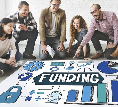 invest: Funding Fundrising Invest Donate Budget Concept