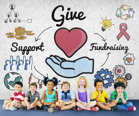 smile please: Give Support Fundraising Help Charity Concept