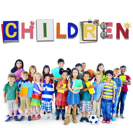 the offspring: Children Kids Offspring Young Adolescence Concept Foto de archivo