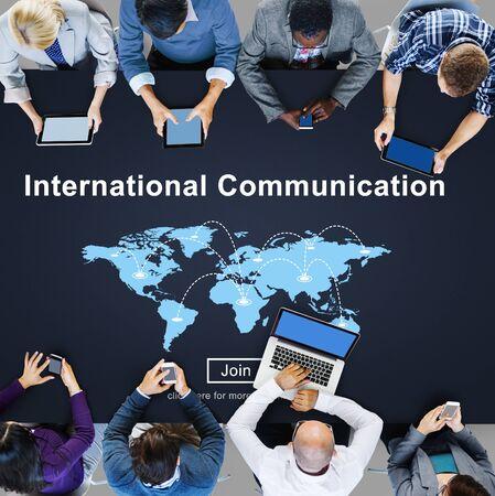 comunicarse: Internacional de Comunicación Global Concept Comunicación