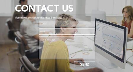 correspondencia: Contact us Correspondence Assistance Support Concept
