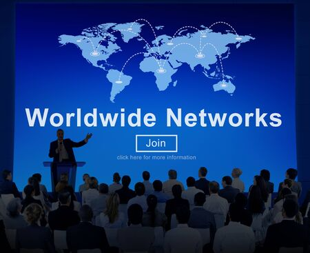 allover: Worldwide Networks Global Communication Finance Concept Stock Photo