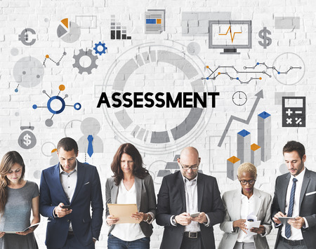 evaluation: Assessment Evaluation Analysis Management Report Concept Stock Photo
