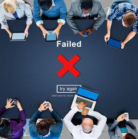crisscross: Crisscross Icon Failed Message Concept
