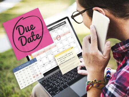important phone call: Due Date Appointment Day Event Important Concept