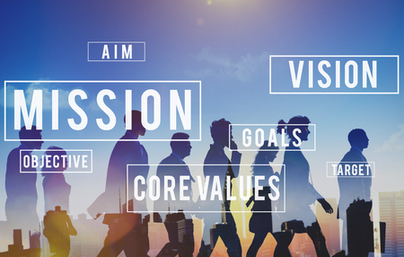 Mission Motivation Objective Plan Aspiration Concept Banco de Imagens - 54879368