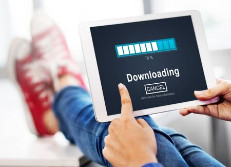 transfering: Downloading Transfering Network Information Technology Concept