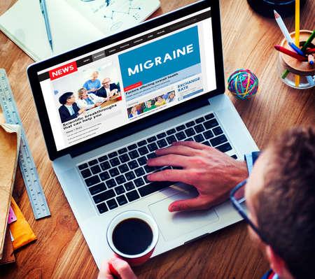 symptoms: Migraine Symptoms Diagnosis Disturbed Vision Concept