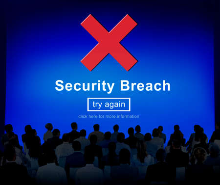 security breach: Security Breach Hacker Cyber Crime Privacy Policy Concept Stock Photo
