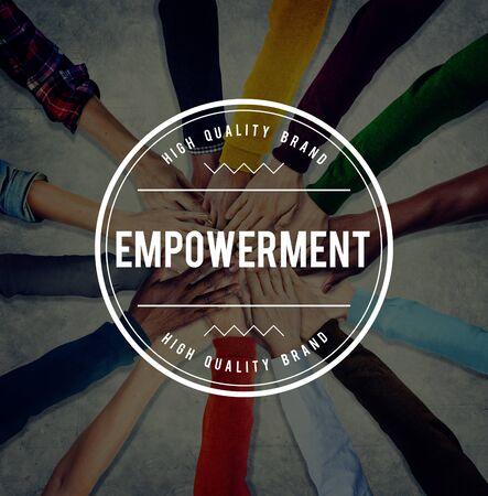 liberate: Empowerment Empower Empowering Improvement Concept Stock Photo