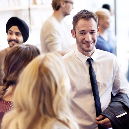 Diversity Group of People Meet up Party Concept Stock Photo