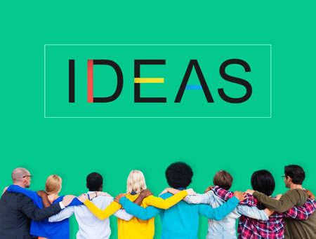 huddle: Team Teamwork Huddle Ideas Support Concept Stock Photo