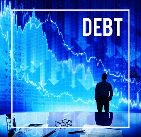 owed: Debt Depression Gambling Interest Loan Concept