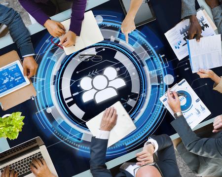 Technology teamwork with brainstorming concept Banco de Imagens - 109322699