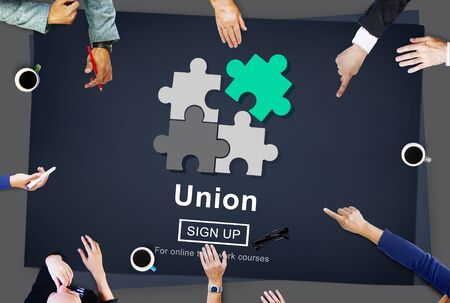 puzzle people: Union Unity Team Community United Concept