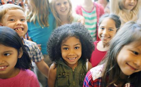 Schoolkinderen Vrolijke Variatie Concept Stockfoto