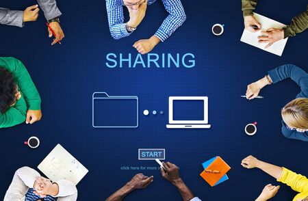 transferring: Sharing Information Networking Social Media Concept