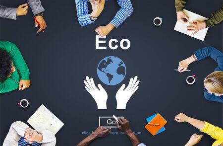 ecosistema: Ecología Medio Ambiente concepto de la tierra Conservación Foto de archivo