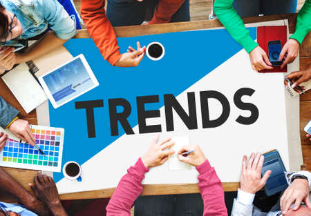 business trending: Design Team Meeting Trends New Concept Stock Photo