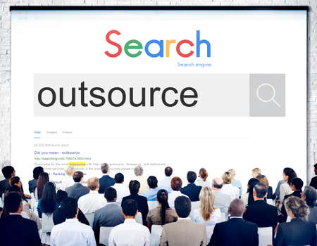 crowd source: Outsource Task Contract Work Supplier Concept