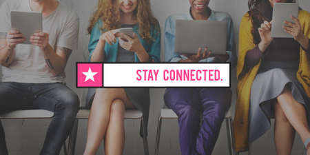 interact: Stay Connected Interact Network Sharing Social Concept