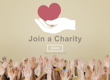 Join Charity Heart Kindness Care Concept Stock Photo