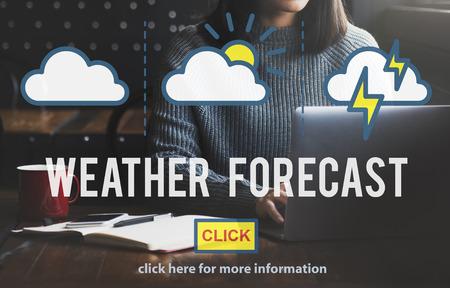 Weather Forecast Temperature Meteorology Concept 版權商用圖片