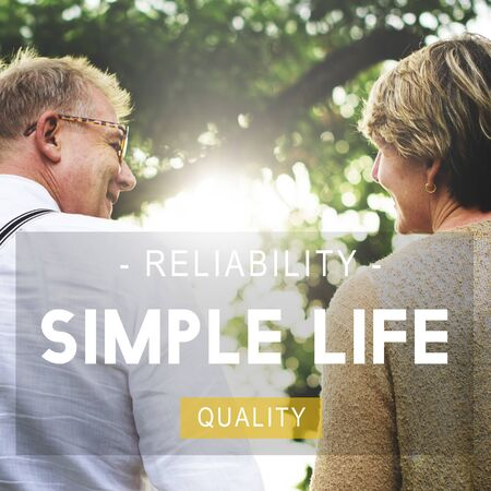 simple: Simple Life Reliability Quality Living Concept Stock Photo