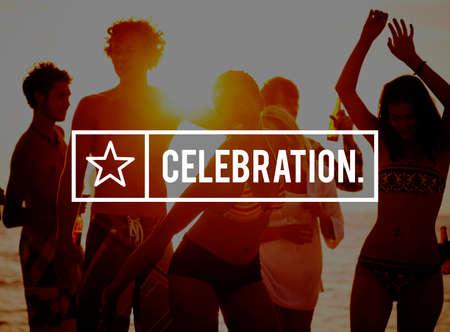 enjoyment: Celebration Happiness Enjoyment Party Event Concept Stock Photo