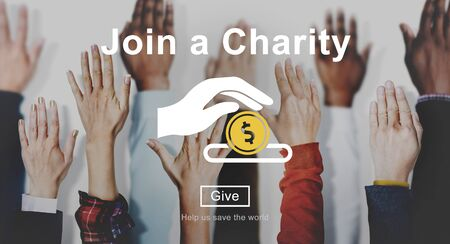 give money: Join Charity Give Money Concept