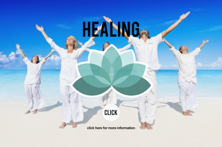 yoga to cure health: Healing Therapy Wellbeing Wellness Concept