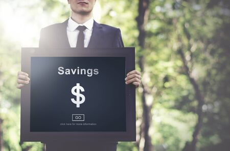 account executive: Savings Banking Assets Money Budget Economy Concept Stock Photo