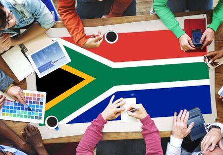 Drapeau Afrique du Sud Patriotisme Sud African Pride Unity Concept