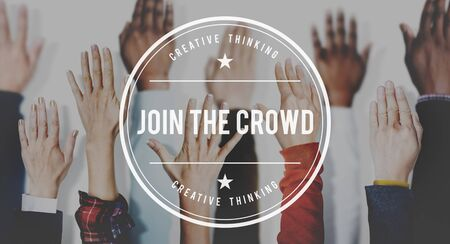 participate: Join the Crowd Participate Connect Togetherness Unity Concept