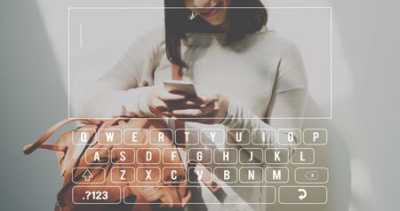 phone message: Keyboard Message Text SMS Concept